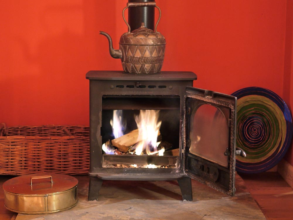 Cabin woodburner fire